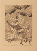 Books:Fiction, Edward Gorey and John Updike. SIGNED LIMITED EDITION. The TwelveTerrors of Christmas. Gotham Book Mart, 1993. Fir...