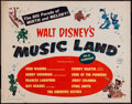 """Movie Posters:Animation, Music Land (RKO, 1955). Half Sheet (22"""" X 28"""") Style A. Animation.. ..."""
