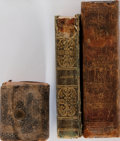 Books:Literature Pre-1900, [Literature]. Paradise Lost, Little Webster Dictionary, andWorks of James Thomson. Group of Three Sma... (Total: 3Items)