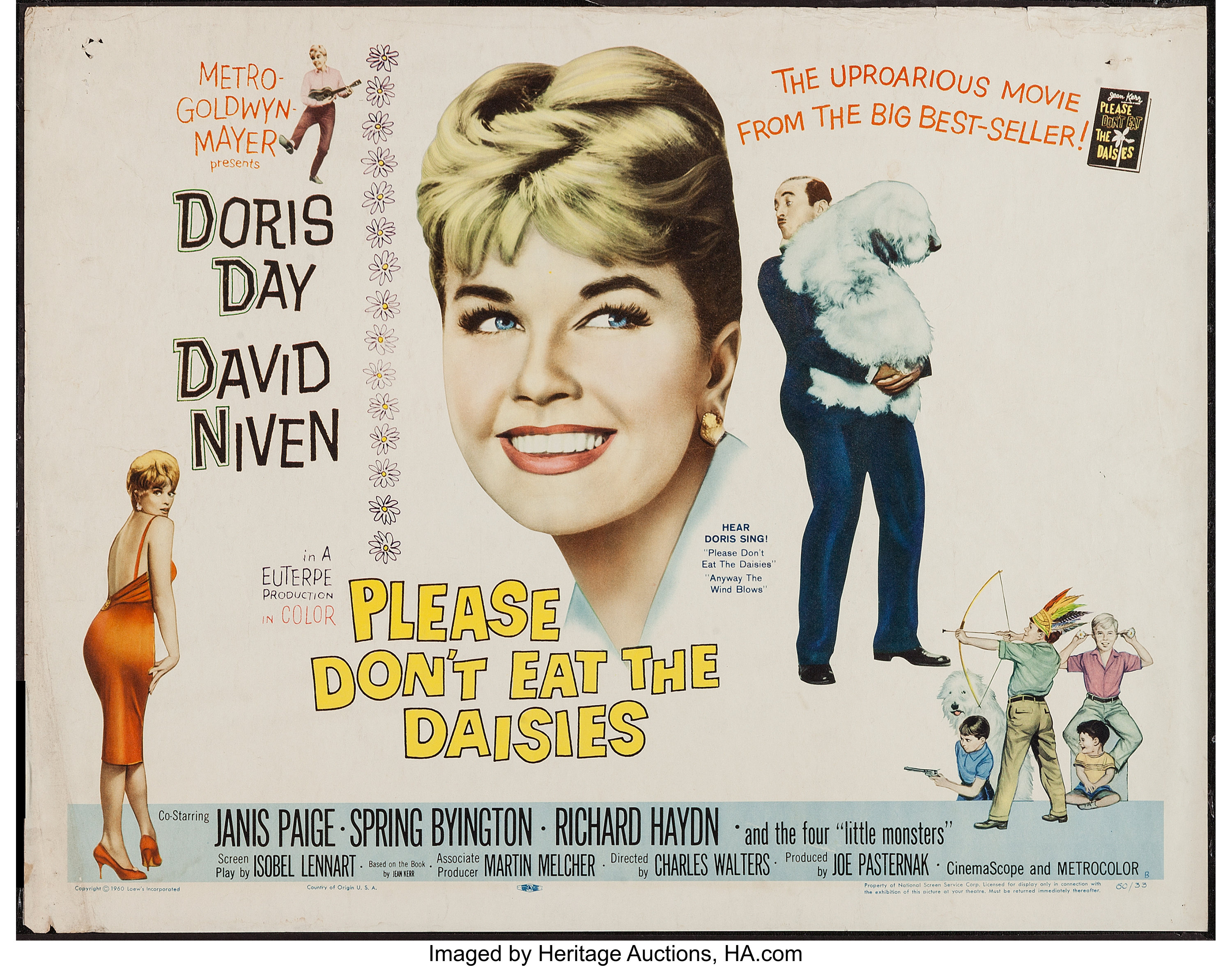 Please Don T Eat The Daisies Mgm 1960 Half Sheet 22 X 28 Lot 52390 Heritage Auctions