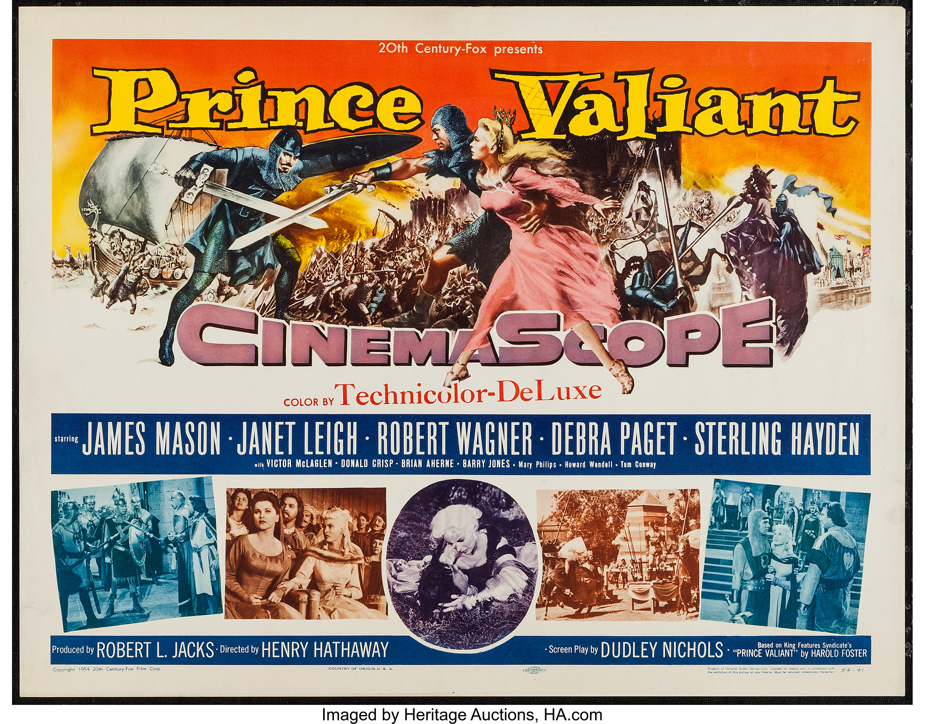 Prince Valiant James Mason Janet Leigh movie poster print 2