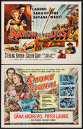 """Movie Posters:Western, Smoke Signal and Other Lot (Universal International, 1955). Half Sheets (2) (22"""" X 28"""") Style A. Western.. ... (Total: 2 Items)"""