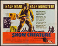 "Movie Posters:Science Fiction, Snow Creature (United Artists, 1954). Half Sheet (22"" X 28"").Science Fiction.. ..."