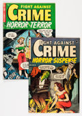 Golden Age (1938-1955):Crime, Fight Against Crime #16 and 18 Group (Story Comics, 1953-54) Condition: Average VG.... (Total: 2 Comic Books)