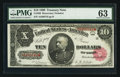 Large Size:Treasury Notes, Fr. 368 $10 1890 Treasury Note PMG Choice Uncirculated 63.. ...
