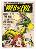 Golden Age (1938-1955):Horror, Web of Evil #4 (Quality, 1953) Condition: VG....