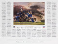 Football Collectibles:Photos, 2003 NFL Homecoming Pro Football Hall of Fame Signed Print With 108 Autographs. ...