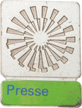 Miscellaneous Collectibles:General, 1972 Munich Summer Olympics Press Pin....