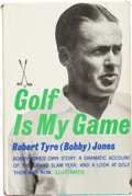 Golf Collectibles:Autographs, 1960 Bobby Jones Signed Book....
