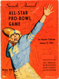 Football Collectibles:Programs, 1957 NFL East-West Pro Bowl Multi Signed Program - With Vince Lombardi!...