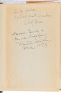 "Golf Collectibles:Autographs, 1954 Bobby Jones & Horton Smith Signed ""The Bobby JonesStory"" Book...."