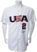 Autographs:Jerseys, 2006 Derek Jeter Signed World Baseball Classic Jersey....