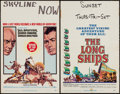 "Movie Posters:Adventure, Kings of the Sun & Other Lot (United Artists, 1963). WindowCards (2) (14"" X 22""). Adventure.. ... (Total: 2 Items)"