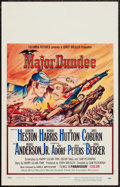 "Movie Posters:Western, Major Dundee (Columbia, 1965). Window Card (14"" X 22""). Western.. ..."