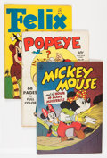 Golden Age (1938-1955):Miscellaneous, Four Color Group (Dell, 1942-55) Condition: Average VG.... (Total: 20 Comic Books)