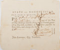 Autographs:Military Figures, [Revolutionary War] Jedediah Huntington Signed Document....