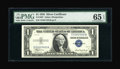 Small Size:Silver Certificates, Fr. 1607 $1 1935 Silver Certificate. PMG Gem Uncirculated 65 EPQ.. ...