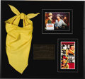 "Movie/TV Memorabilia:Costumes, John Wayne Costume Cavalry Scarf from ""El Dorado."" Thismustard-yellow costume U.S. Cavalry scarf was worn by John Wayne in... (Total: 1 Item)"