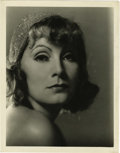 "Movie/TV Memorabilia:Photos, Greta Garbo Vintage Photo by Clarence Sinclair Bull. A sultry,haunting b&w 8"" x 10"" portrait of the glamorous andinscrutab... (Total: 1 Item)"