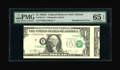 Error Notes:Major Errors, Fr. 1915-F $1 1988A Federal Reserve Note. PMG Gem Uncirculated 65EPQ....