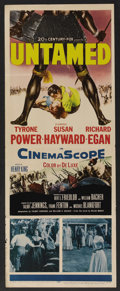 "Movie Posters:Adventure, Untamed (20th Century Fox, 1955). Insert (14"" X 36""). Adventure...."