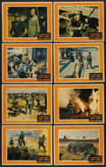"""Movie Posters:War, The Green Berets (Warner Brothers, 1968). Lobby Card Set of 8 (11""""X 14""""). War. ..."""