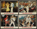 """Movie Posters:Elvis Presley, The Trouble With Girls (MGM, 1969). Lobby Cards (4) (11"""" X 14"""").Elvis Presley. ..."""