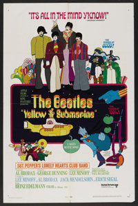 "Yellow Submarine (United Artists, 1968). One Sheet (27"" X 41""). Animated"