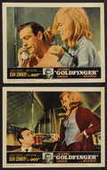 "Movie Posters:James Bond, Goldfinger (United Artists, 1964). Lobby Cards (2) (11"" X 14""). James Bond. ... (Total: 2 Items)"