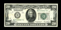 Small Size:Federal Reserve Notes, Fr. 2050-K $20 1928 Federal Reserve Note. Choice Crisp Uncirculated.. ...