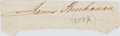 Autographs:U.S. Presidents, James Buchanan (1791-1868, American President). ClippedSignature....