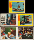 """Movie Posters:Film Noir, The Big Combo & Others Lot (Allied Artists, 1955). Lobby Cards (4) & Title Lobby Card (11"""" X 14""""). Film Noir.. ... (Total: 5 Items)"""