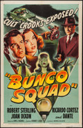 "Movie Posters:Crime, Bunco Squad (RKO, 1950). One Sheet (27"" X 41""). Crime.. ..."