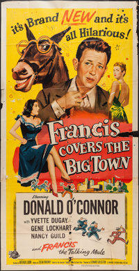 "Francis Covers the Big Town (Universal International, 1953). Three Sheet (41"" X 79""). Comedy"