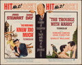 """Movie Posters:Hitchcock, The Man Who Knew Too Much / The Trouble With Harry Combo(Paramount, R-1963). Half Sheet (22"""" X 28""""). Hitchcock.. ..."""