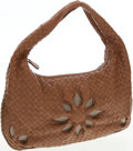 Luxury Accessories:Bags, Bottega Veneta Brown Intrecciato Leather Nappa Hobo Bag with FlowerDetail. ...