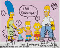 Autographs:Celebrities, Matt Groening, American Cartoonist and Producer. Signed andInscribed Simpsons Photo, with Original Drawings. Ov...