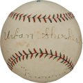 Autographs:Baseballs, 1923 Urban Shocker Single Signed Baseball....