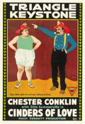 "Movie Posters:Comedy, Cinders of Love (Triangle, 1916). One Sheet (28"" X 41"").. ..."