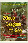 "Movie Posters:Science Fiction, 20,000 Leagues Under the Sea (Buena Vista, 1954). One Sheet (27"" X41"") Style A.. ..."
