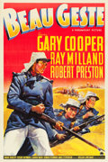 "Movie Posters:Adventure, Beau Geste (Paramount, 1939). One Sheet (27"" X 41"") Style A.. ..."