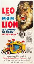 "Movie Posters:Academy Award Winners, Leo the MGM Lion (MGM, 1928). Three Sheet (41.5"" X 77.5"").. ..."