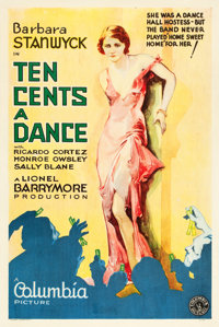 """Ten Cents a Dance (Columbia, 1931). One Sheet (27"""" X 41"""") Style A"""