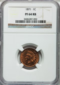 Proof Indian Cents: , 1871 1C PR64 Red and Brown NGC. NGC Census: (61/55). PCGS Population (103/44). Mintage: 960. Numismedia Wsl. Price for prob...