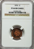 Proof Indian Cents, 1878 1C PR66 Cameo NGC....