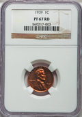 Proof Lincoln Cents, 1939 1C PR67 Red NGC....
