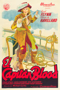 "Movie Posters:Adventure, Captain Blood (Warner Brothers, 1935). Argentinean One Sheet (29"" X43.5"").. ..."