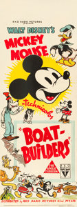 """Movie Posters:Animation, Mickey Mouse in Boat Builders (RKO, 1937). Pre-War AustralianDaybill (14.5"""" X 40"""").. ..."""