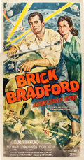 "Movie Posters:Serial, Brick Bradford Amazing Soldier of Fortune (Columbia, 1947). Three Sheet (41"" X 78.5"").. ..."