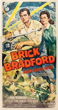 "Brick Bradford Amazing Soldier of Fortune (Columbia, 1947). Three Sheet (41"" X 78.5"")"